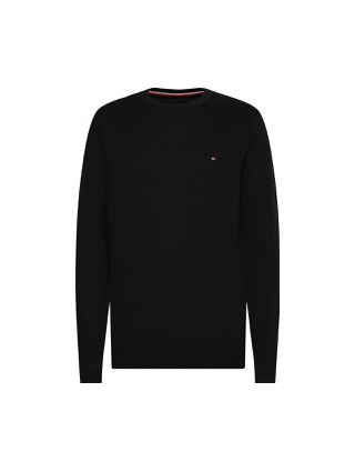 Tommy Hilfiger 'CORE COTTON-SILK CNECK TRÖJA, MARIN