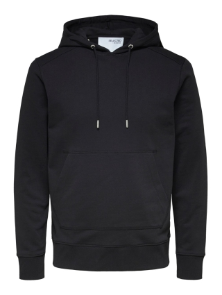 Selected Homme JACKSON380 HOOD SWEATSIRT SVART