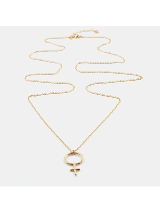 7EAST Venus Halsband 90cm Guld
