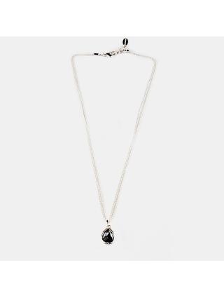 7EAST Shiny Halsband Silver