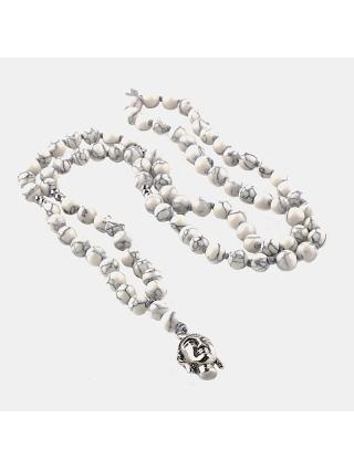 7EAST Buddha Halsband Vit
